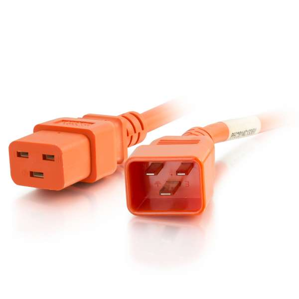 C2G 12AWG IEC320C20 to IEC320C19 Power Extension Cable [Orange]